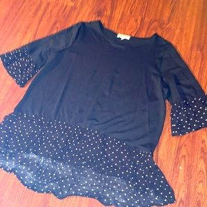 Pleione black and white women's top size large